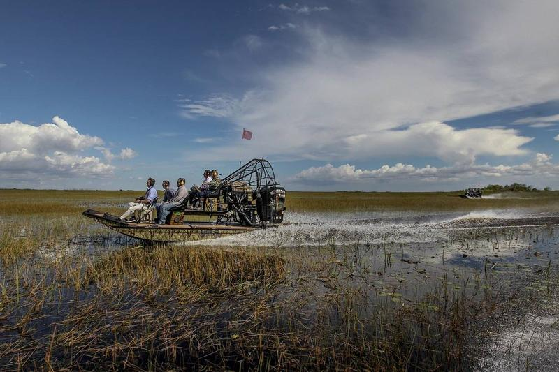 In September, Gov. Ron DeSantis toured Everglades marshes with Ron Bergeron, whom he appointed to the South Florida Water Management Board in January.