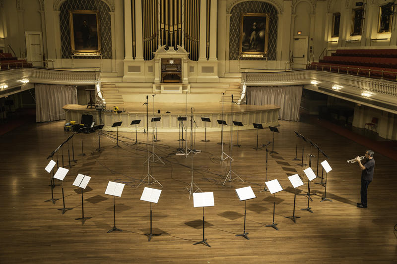 Recording Piece in the Shape of a Square in the incredible Mechanics Hall in Worcester, MA.