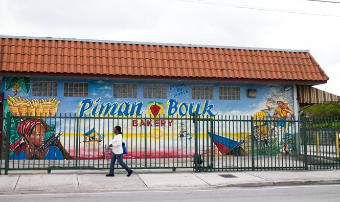 Serge Toussaint's Piman Bouk bakery mural.