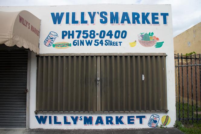 Storefront in Little Haiti.