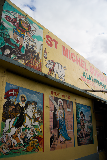 St. Michel Super Botanica and Variety Store painted by Serge Toussaint in Little Haiti.