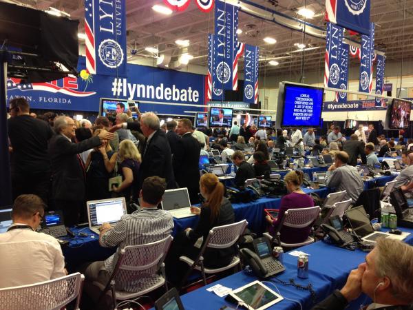 Media room at Lynn University's gym.