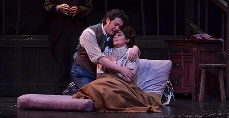 La Bohème At The Arsht: Tenor Arturo Chacóno-Cruz and soprano Aylin Pérez.
