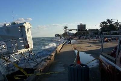 Fort Lauderdale Beach: Experts say the same weather with a lower sea would have caused less damage.