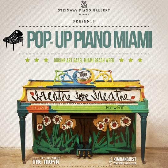 Pop Up Piano makes it appearance for the second time in Miami.