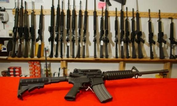 ECONOMICS: Manufacturer says the value of assault weapons such as these will rise if they're banned and a black market wsill thrive.