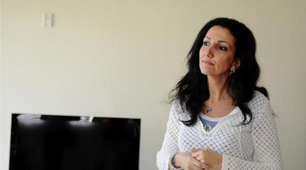 Nathalie Nahas Cortas in her home in Broward County, Florida.