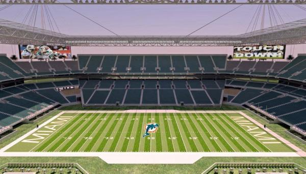 Dolphins rendering of proposed $400-million renovation of Sun Life Stadium