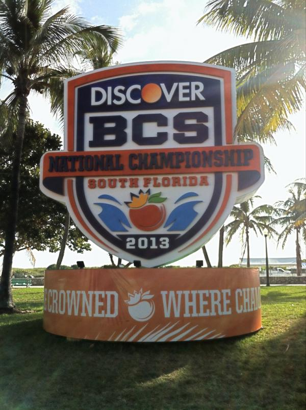 South Beach has BCS fever as Alabama and Notre Dame play for college football's national title. The game means millions of extra dollars coming in to the region's coffers.