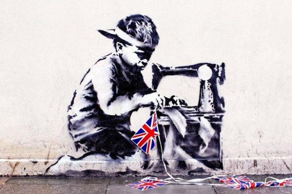 Slave Labour (Bunting Boy) 2012 by Banksy