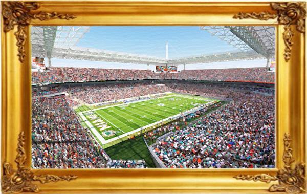 Artist's rendering of Sun Life Stadium upgrades.