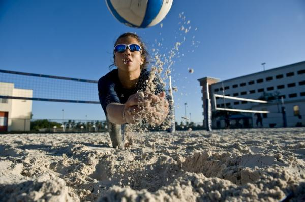FIU begins its inaugural sand volleyball season this month.
