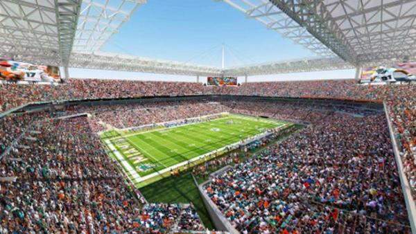 The Miami Dolphins sought tax money to upgrade SunLife Stadium.