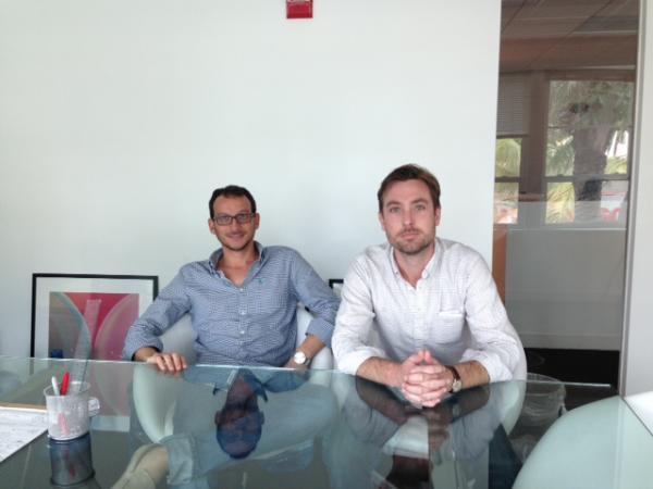 Editor-in-Chief Daniel Eilemberg (left) and Creative Director Adrian Saravia (right) have set up shop in Miami in order to keep their eyes trained on Animal Politico's future, which will likely involve opening at least one bureau in the United States.
