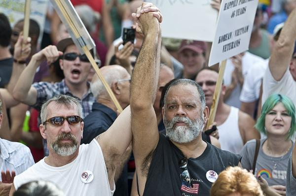 THE CAUSE THEY LOST: In 2008, these protesters demonstrated in Fort Lauderdale against a gay marriage ban that was on the ballot. Sixty-two percent of the voters approved it.