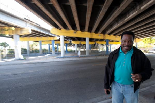 General White talks about some of the business that were replaced by an I-395 overpass on Northwest Third Avenue in Overtown.