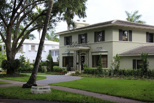 Coral Gables has a list of pre-approved paint colors for all homes in the city.