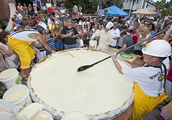 What could be the world's largest Key Lime Pie, measuring 8 feet in diameter.