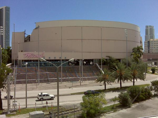 Miami Arena before its demolition