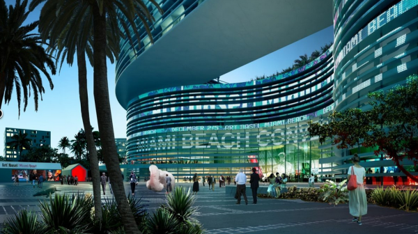 An artist's rendering of South Beach ACE's approved plans for renovations to the Miami Beach Convention Center.