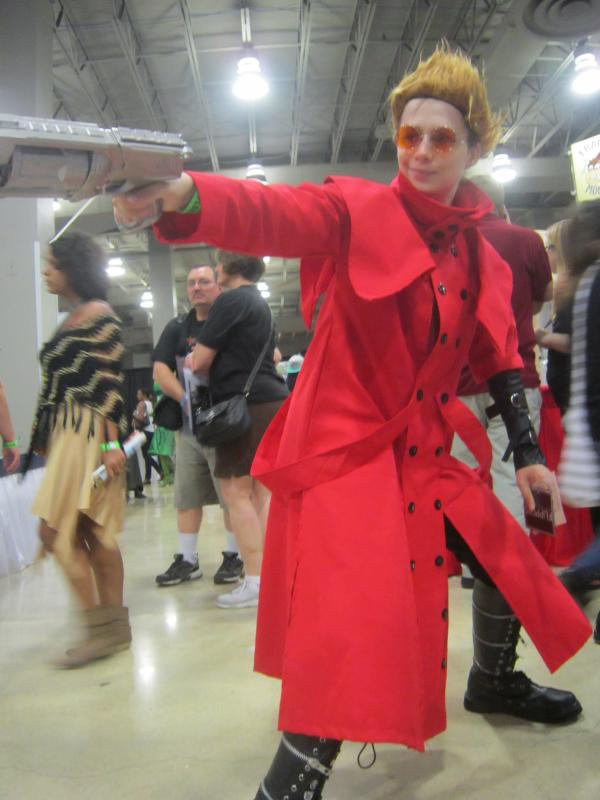 Alexander Long of Hollywood poses as Vash the Stampede from the anime and manga series Trigun.