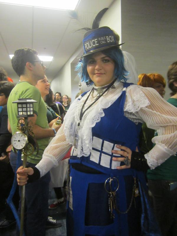 "Kaitlin Schwartz of Miami dresses as a Tartus from the TV series ""Doctor Who."""