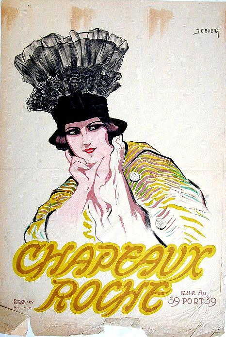 Chapeaux Roche, J.F. Bubna, Dinse und Eckert, 1911 (ad for hat store)