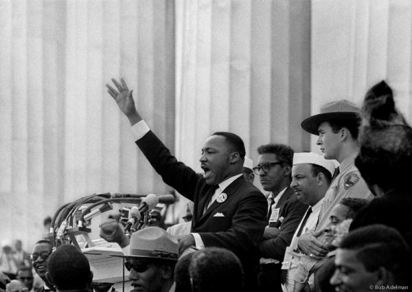 Rev. Martin Luther King delivering his 'I Have a Dream' speech in 1963, as captured by photographer Bob Adelman, who tells us about being there that day and shooting this photo.