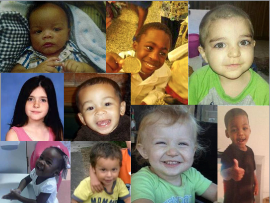 The recent deaths of so many children who had had contact with DCF has brought renewed scrutiny on a troubled agency: (clockwise from the top left, name, followed by their age at death, if known) Dontrell Melvin, unknown; Antwan Hope, 4; Dakota Stiles, 3; Ezra Raphael, 2; Aliyah Branum, 2; Jayden Morales, 2; Jewel Howard, 3; Cherish Perrywinkle, 8; and Christian Byrd, 2.