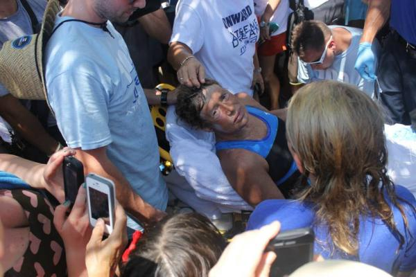 An exhausted Diana Nyad spoke to reporters and fans about an epic dream fulfilled.
