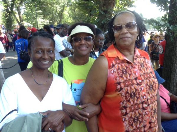 (Left to right) Tsitsi Wakhisi, Brenda Howard and Arberdella White-Davis.