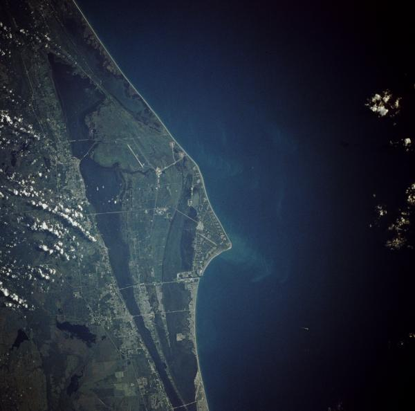 A shot of Cape Canaveral from space.