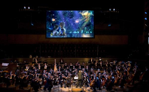 The concert of Final Fantasy music is a truly multimedia experience with images and video games that run in sync with the music.