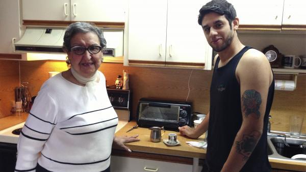 Luisa Toledo and her grandson Michael Toledo