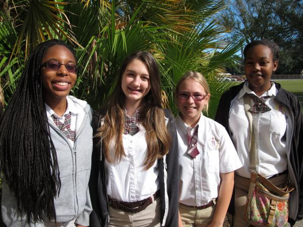 Ferrell Preparatory Academy students Ariana Jerome, Shawna Kent, Elena Postlewait and Destiny Jackson all say they prefer their all-girls school to the co-ed schools they previously attended.