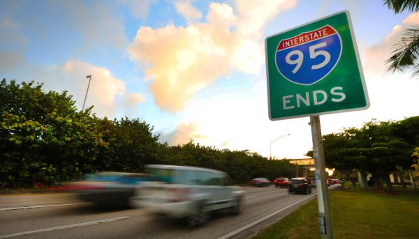 Nearly 2,000 miles of human accomplishment end unceremoniously near Coconut Grove.