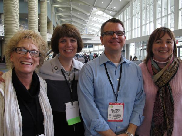 The staff at Holy Trinity Episcopal Academy. From left: Nancy Gavrish, Cathy Koos, Brad Meyer and Teresa Schultz.