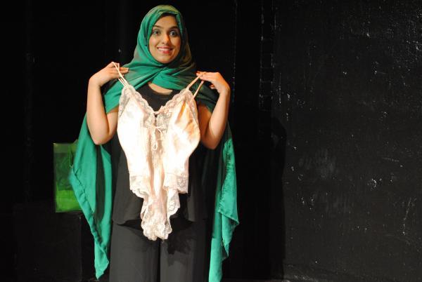 "Aizzah Fatima will perform ""Dirty Paki Lingerie"" at Broward College."