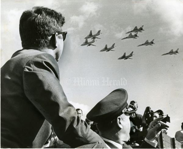 President John F. Kennedy in Miami in 1963.