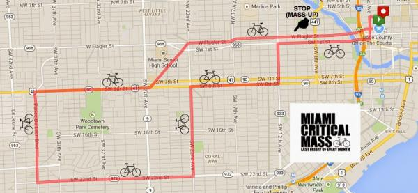 Here's the March route map from www.themiamibikescene.com