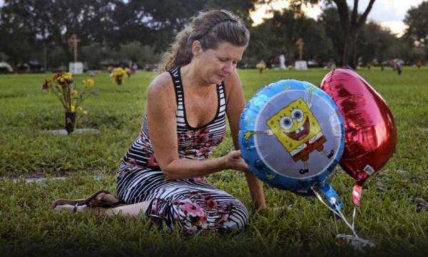 A woman grieves the loss of her 3-year-old grandson, whose mother struggled with drug addiction.