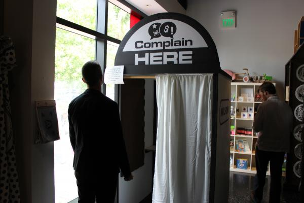 WLRN's pop-up complaints booth at the Wolfsonian-FIU.