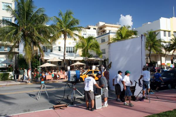 TAX DOLLARS AT WORK: A movie shoot in Miami Beach. A state Senate committee thinks there should be more incentives available to lure movie producers to Florida.