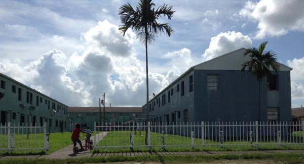 Children play in the Liberty Square Housing projects. Police says the projects are at the epicenter of Liberty City's gang problem.