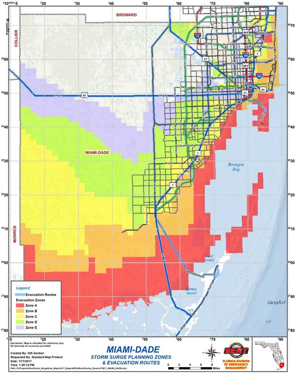Complete Map Of Florida.Are You In An Evacuation Zone Here Is How To Know Wgcu News