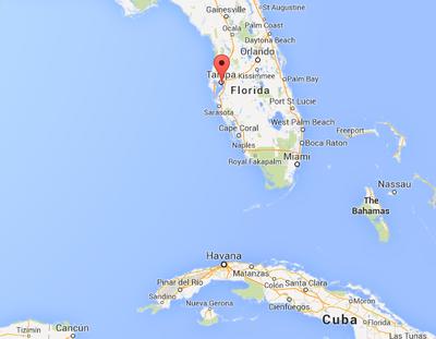 Cuba To Florida Map.Earthquake Off Cuba S Coast Felt In Key West Residents Not Rattled