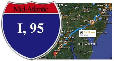 I95 Map Florida.I 95 A Man S Findings On A 300 Mile Commute Wlrn