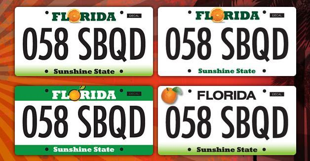 florida will be getting a new license plate design-- and you get a