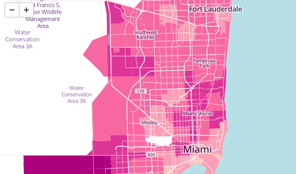Interactive Map Of Florida.How Much Time Do You Spend In Transit An Interactive Map Of South