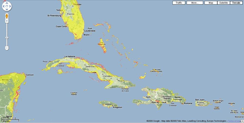 Sea Level Limbo In The Caribbean How Low Can You Go WLRN - Google maps sea level